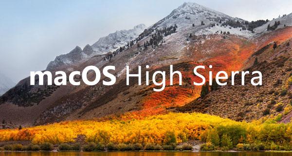 macOS High Sierra=